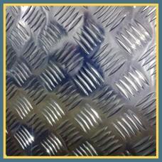 Лист нержавеющий рифленый 5х1250х2500 мм AISI 304 ГОСТ 5632-83